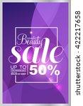 big sale  beauty cosmetics sale ... | Shutterstock .eps vector #422217658
