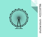 ferris wheel icon.  | Shutterstock .eps vector #422218786