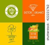 set of vector logo detox drink  ... | Shutterstock .eps vector #422221762