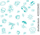 blue beach doodle art for... | Shutterstock .eps vector #422222632