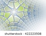 funky blue  green and teal... | Shutterstock . vector #422223508