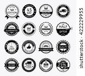 collection of commercial badges.... | Shutterstock .eps vector #422229955