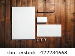 photo of blank stationery set... | Shutterstock . vector #422234668