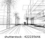 sketch design of urban  3dwire...   Shutterstock . vector #422235646