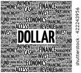 dollar word cloud  business...   Shutterstock .eps vector #422243956