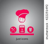 cook icon | Shutterstock .eps vector #422251492