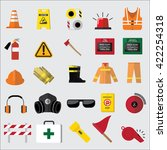 set of safety icon  | Shutterstock .eps vector #422254318
