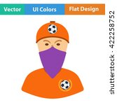 football fan with covered  face ...