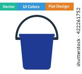 flat design icon of bucket in...