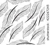 seamless wallpaper feathers ... | Shutterstock .eps vector #422267245