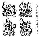 hand lettering inscription set  ... | Shutterstock .eps vector #422267368