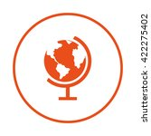 globe icon. globe earth | Shutterstock .eps vector #422275402