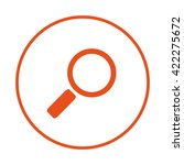 loupe search icon. find icon.