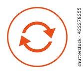 circular arrow sign icon. two...