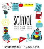 modern school background with... | Shutterstock .eps vector #422287246