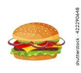 vector drawing of hamburger... | Shutterstock .eps vector #422290648
