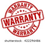 warranty. stamp | Shutterstock .eps vector #422296486