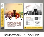 brochure design template vector.... | Shutterstock .eps vector #422298445