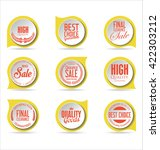 modern sale stickers collection | Shutterstock .eps vector #422303212
