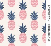 fun pineapple seamless pattern... | Shutterstock .eps vector #422303605