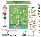 infographic  fitness and diet... | Shutterstock .eps vector #422305468