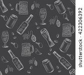 beer hand drawn doodle...   Shutterstock .eps vector #422306392