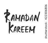 ramadan kareem greeting card... | Shutterstock .eps vector #422306806