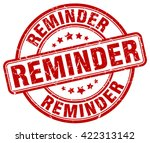 reminder. stamp   Shutterstock .eps vector #422313142