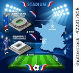 france stadium infographic... | Shutterstock .eps vector #422317858