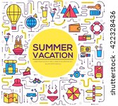 summer travel trip infographic... | Shutterstock .eps vector #422328436