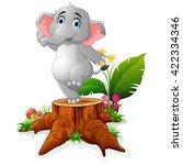 cartoon funny elephant posing...