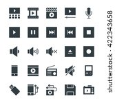 multimedia cool vector icons 2 | Shutterstock .eps vector #422343658