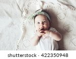 portrait of a 4 month cute baby ... | Shutterstock . vector #422350948