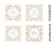 floral monograms for cards ... | Shutterstock .eps vector #422368102