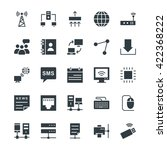 networking cool vector icons 1 | Shutterstock .eps vector #422368222