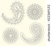 cute paisley pattern  turkish... | Shutterstock .eps vector #422369152
