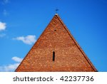 gothic church tower against the ... | Shutterstock . vector #42237736