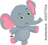 cute baby elephant cartoon | Shutterstock .eps vector #422377516