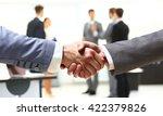closeup of a business handshake ... | Shutterstock . vector #422379826