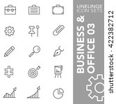 high quality thin line icons of ... | Shutterstock .eps vector #422382712