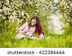 mom with baby garden | Shutterstock . vector #422386666