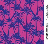 palm tree silhouette pattern  ... | Shutterstock .eps vector #422388232