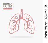 lungs icon isolated on white...   Shutterstock .eps vector #422390245