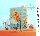 building and construction... | Shutterstock .eps vector #422397316