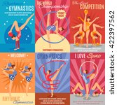 collection of six rhythmic... | Shutterstock .eps vector #422397562