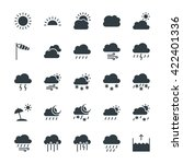 weather cool vector icons 1 | Shutterstock .eps vector #422401336