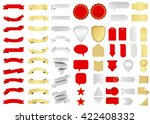 ribbon vector icon set red... | Shutterstock .eps vector #422408332