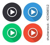 play button vector icon  ... | Shutterstock .eps vector #422408512