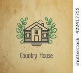 country house. house line logo... | Shutterstock .eps vector #422417752