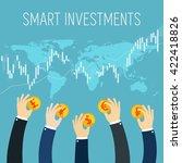 international business flat... | Shutterstock .eps vector #422418826